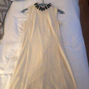 Cream Milly Dress with Black Beading
